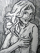People Pastels Metal Prints - Sketch - Nude 2 2011 Series Metal Print by Kamil Swiatek
