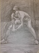 Tennis Drawings Originals - Sketch 1 by Evi  Panteleon
