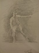 Tennis Drawings Originals - Sketch 10 by Evi  Panteleon