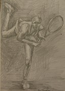 Tennis Drawings Originals - Sketch 2 by Evi  Panteleon