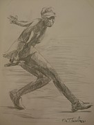Tennis In Art Originals - Sketch 4 by Evi  Panteleon