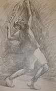 Tennis In Art Originals - Sketch 6 by Evi  Panteleon