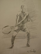 Tennis Drawings Originals - Sketch 7 by Evi  Panteleon