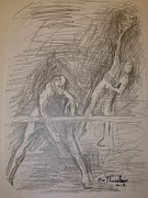 Tennis Drawings Originals - Sketch 8 by Evi  Panteleon