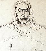 Christ Drawings - Sketch A of Christ by G Cuffia