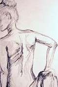 Back Drawings - Sketch Class 2 by Julie Lueders