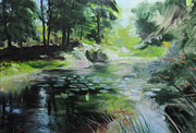 Harry Robertson - Sketch of a pond at Port Meirion