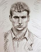 Young Man Drawings - Sketch of a Young Man by William Erwin
