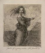Landscape - Sketch of a Young Woman after Leonardo by Gary Kaemmer