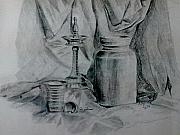 Ceramic Drawings - Sketch Still Life by Asha Porayath