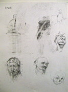 Caricature Drawings Posters - Sketchbook 2  pg 9 Poster by Cliff Spohn