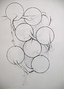 Circles Drawings Framed Prints - Sketchbook 3 pg 13 Framed Print by Cliff Spohn
