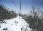 Gondola Ride Prints - Ski Chairlift During Winter Print by Brendan Reals