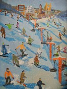 Ski Hill Print by Rodger Ellingson