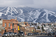 Stoplight Framed Prints - Ski Resort And Downtown Steamboat Framed Print by Rich Reid