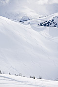 Back Country Prints - Ski Tracks On Whistler Blackcomb Mountain, British Columbia, Canada Print by Radius Images