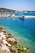 Skiathos Harbour Print by Tom Gowanlock