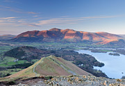 Wainwrights Framed Prints - Skiddaw Aflame Framed Print by Stewart Smith