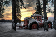 Heather Rivet Prints - Skidder Sunrise Print by Heather  Rivet