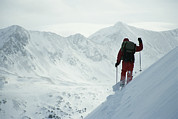Sawatch Range Framed Prints - Skier Phil Atkinson Traversing Framed Print by Tim Laman