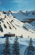Skiing Pastels - Skiing in the Swiss Alps by Dana Schmidt