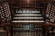 Tab Framed Prints - Skinner Pipe Organ Framed Print by Clarence Holmes