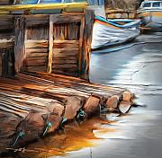 Wooden Dock Prints - Skinners Pond Print by Bob Salo