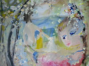 Candle Painting Originals - Skinny dipping by candle light by Judith Desrosiers