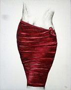 Maroon Mixed Media Originals - Skirt 01 by Mohd Raza-ul Karim