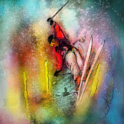 Sports Art Mixed Media - Skiscape 02 by Miki De Goodaboom