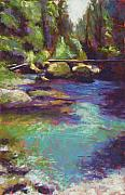 Washington Pastels - Skokomish River by Mary McInnis