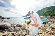 Skopelos Framed Prints - Skopelos Mamma Mia Wedding Framed Print by Nick Karvounis
