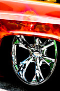 Rims Prints - Skull and Chrome Print by Toni Hopper