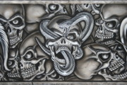 Terry Stephens - Skull and Snake