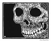 Block Print Originals - Skull Aware by Henry Krauzyk