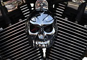 Chrome Skull Framed Prints - Skull Candy Framed Print by Christopher Biggers