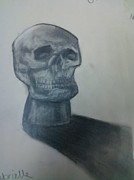 Holloween Drawings - Skull by Gabrielle Sassone