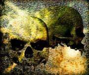 Halloween Mixed Media Prints - Skull of the Vampire Print by Bob Orsillo