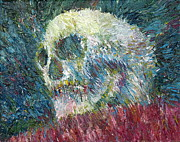 Skull Paintings - Skull Oil Portrait.1 by Fabrizio Cassetta