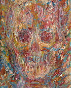 Skull Paintings - Skull Oil Portrait.2 by Fabrizio Cassetta