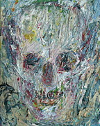 Skull Paintings - Skull Oil Portrait.4 by Fabrizio Cassetta