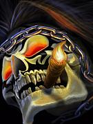 Featured Digital Art - Skull Project by Pat Lewis
