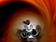 Digital Paintings - Skull Scope 3 by Adam Vance