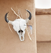 Taos Prints - Skull, Taos New Mexico Print by Sam Diephuis