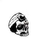 Skull Tattoo Print by Anshie Kagan