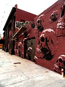 Wynwood Mixed Media - Skull wall by Dustin Spagnola