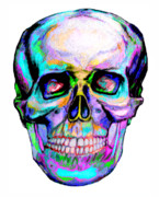 Human Head Mixed Media - Skullerful by Kevin Nodland