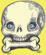 Skullnbone Print by Robert Wolverton Jr
