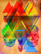 Kenal Louis Digital Art Metal Prints - Skulls and Skulls Metal Print by Kenal Louis