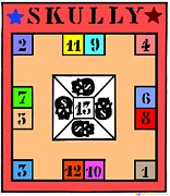 Skully Board Print by Eric Edelman